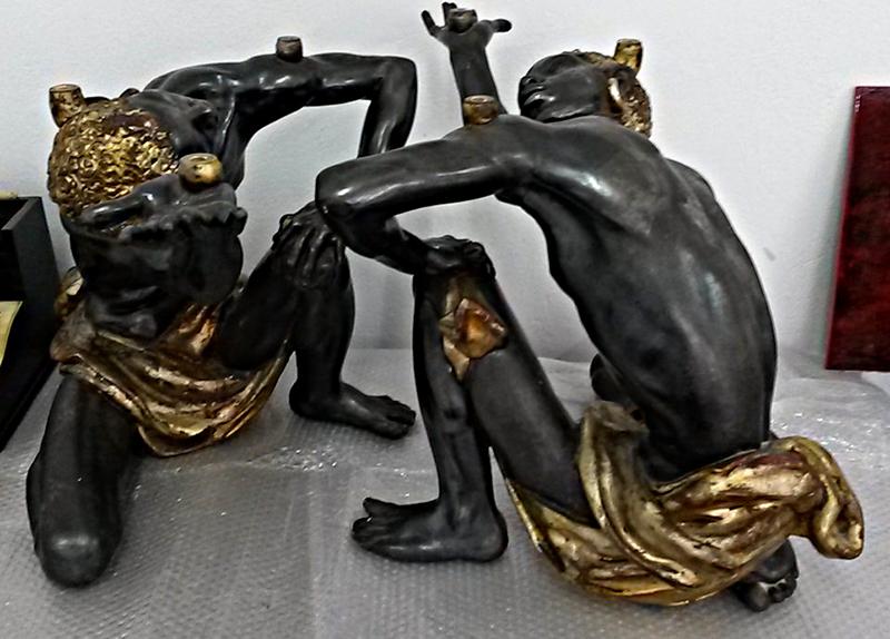 Statues italiennes – Couple de Maures