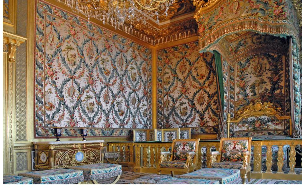 Style Napoléon III - La chambre de l'Impératrice Château de Fontainebleau