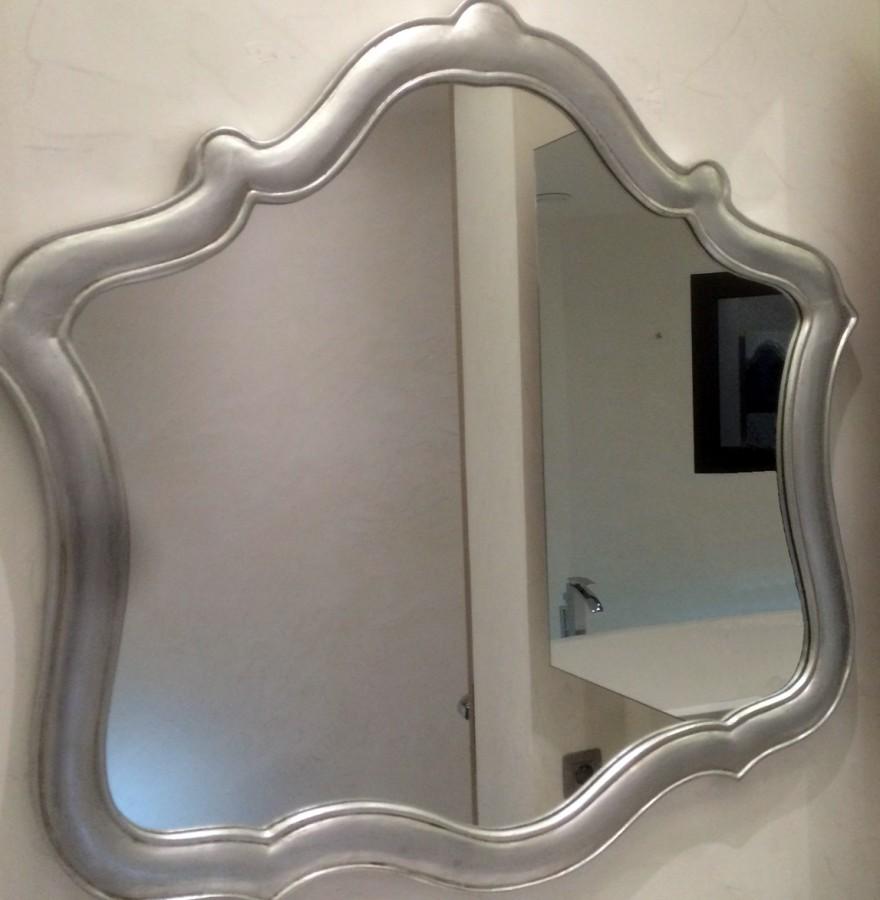 miroir bois argenté