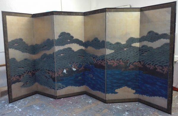 Paravent papier – Japon XIXème siècle