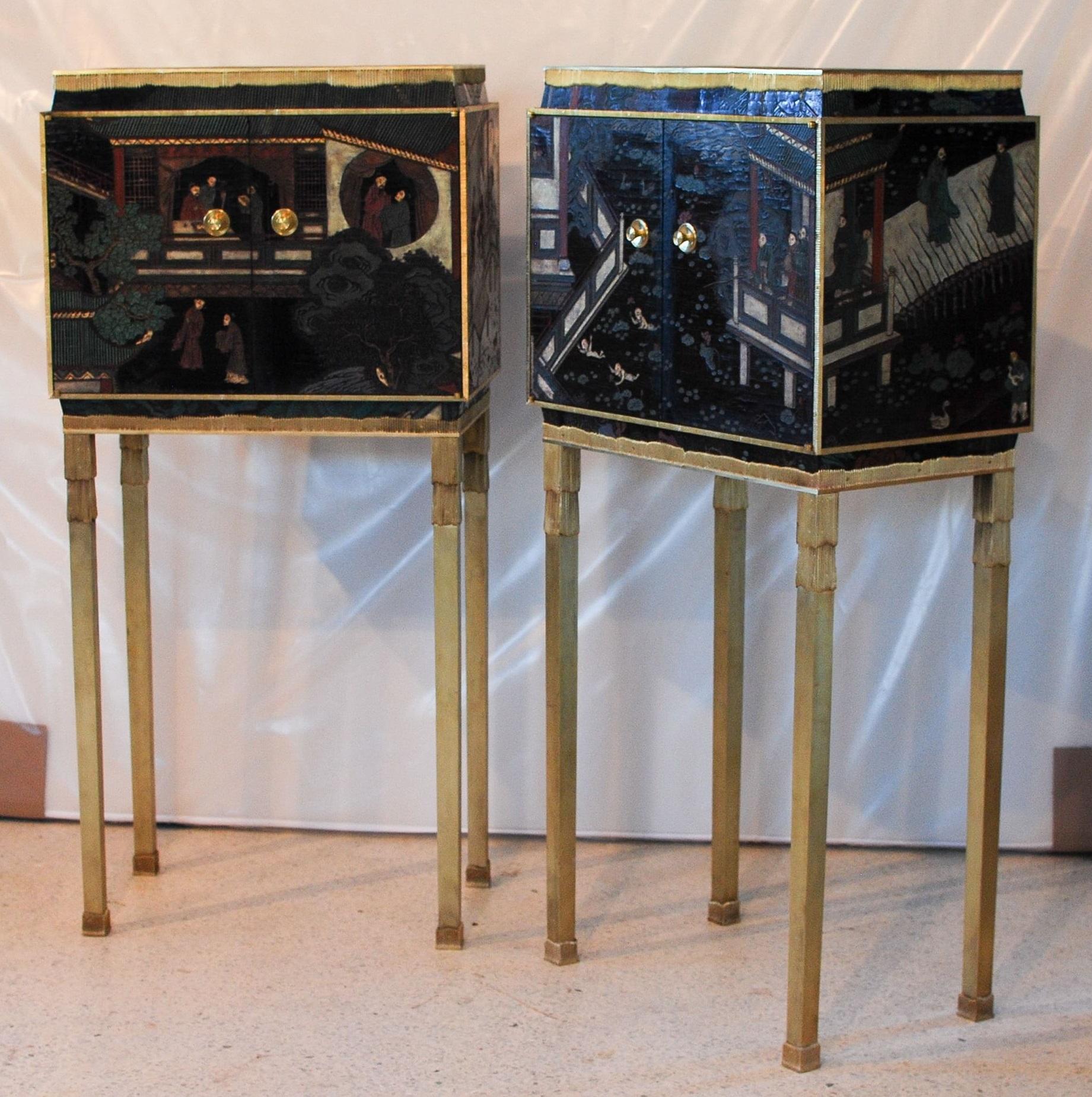 Cabinets en laque de Coromandel