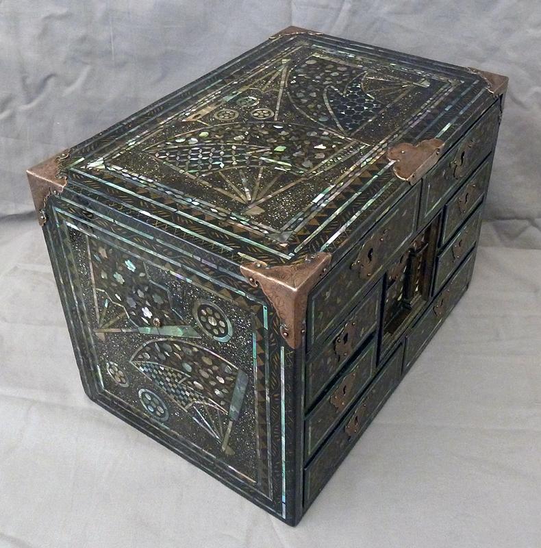 Cabinet Nanban, Japon début XVIIème siècle